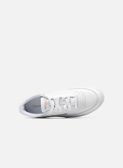 Trainers Reebok Club C 85 W White view from the left