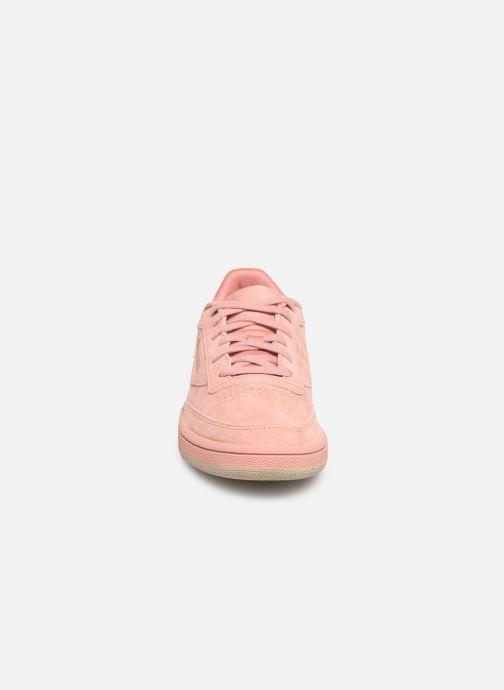 Sneaker Reebok Club C 85 W rosa schuhe getragen
