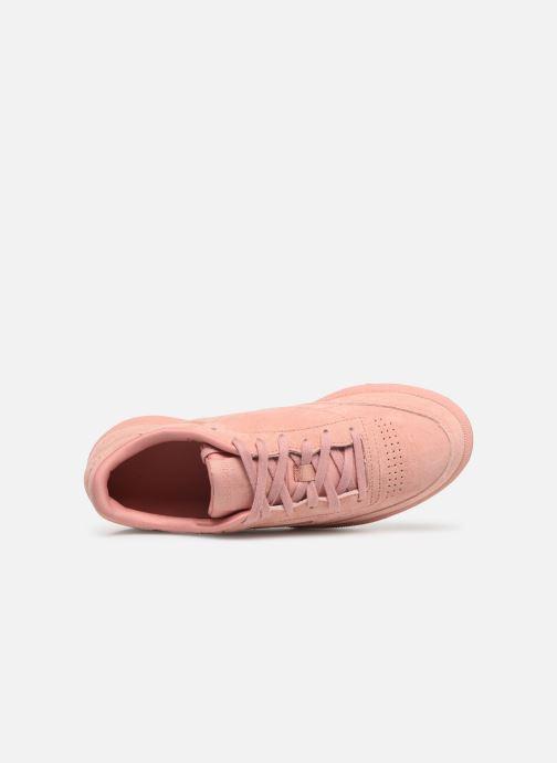 Sneaker Reebok Club C 85 W rosa ansicht von links