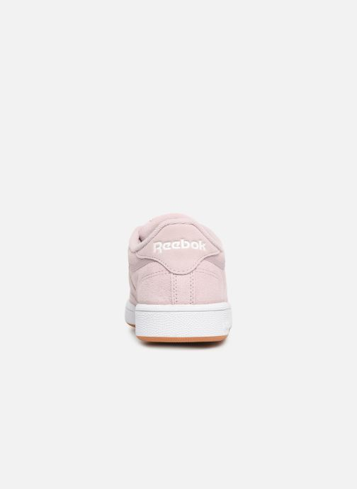 Trainers Reebok Club C 85 W Pink view from the right