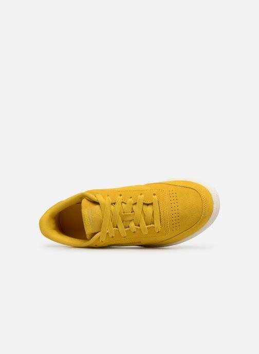 Sneaker Reebok Club C 85 W gelb ansicht von links