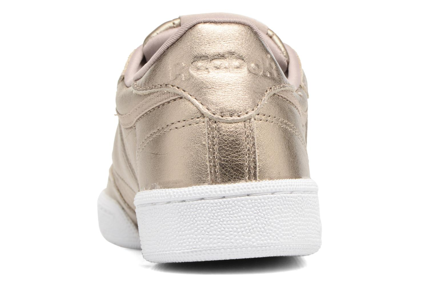 Baskets Reebok Club C 85 Melted Me Or et bronze vue droite