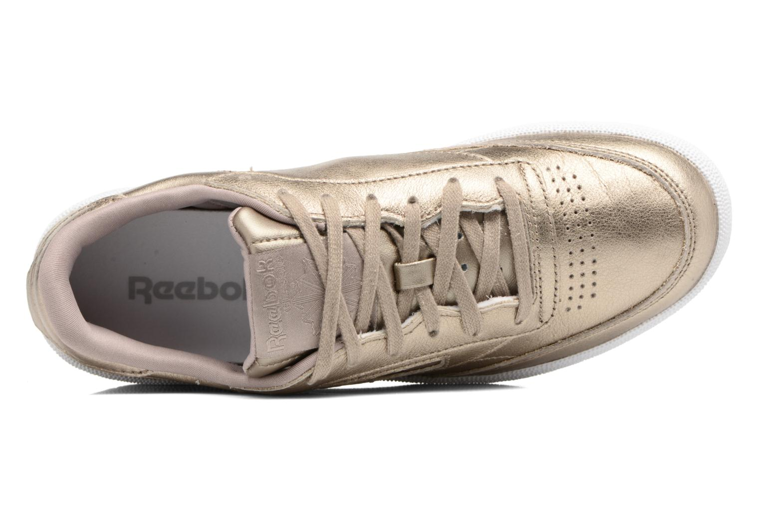 Baskets Reebok Club C 85 Melted Me Or et bronze vue gauche