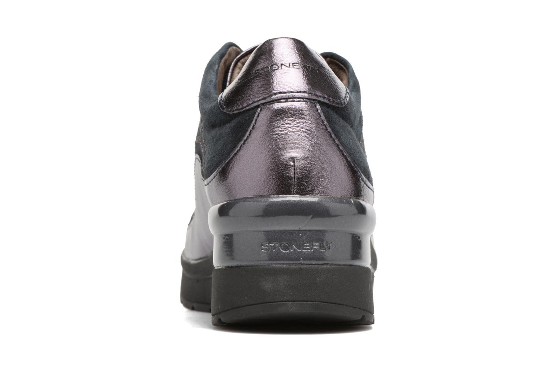 Zapatos con cordones Stonefly Cream 2 Azul vista lateral derecha