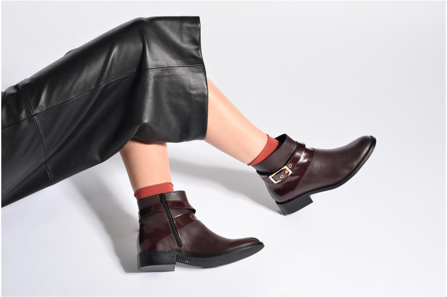 Ankle boots Made by SARENZA Boots Camp #23 Burgundy view from underneath / model view