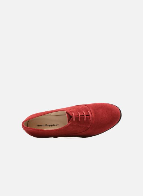 Lace-up shoes Hush Puppies Amou Red view from the left