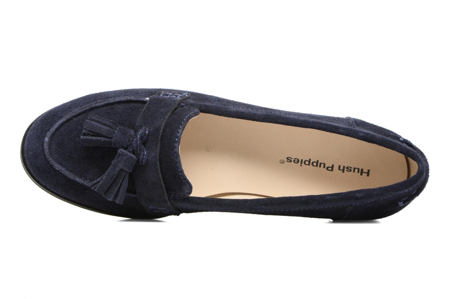 Loafers Hush Puppies Amya Blue view from the left