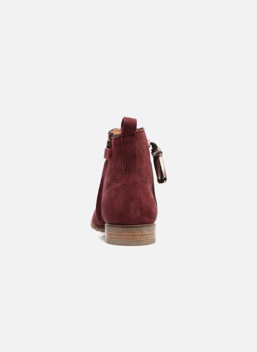 Bottines et boots Adolie Odeon Preppy Bordeaux vue droite