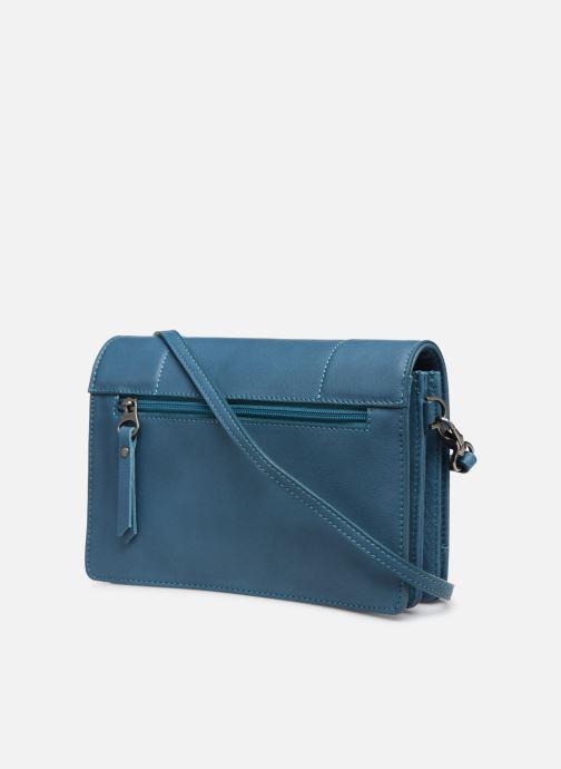 Handtaschen Sabrina Philippine blau ansicht von rechts