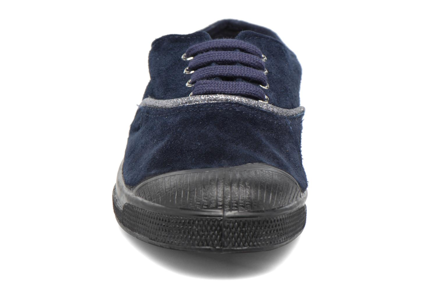 Trainers Bensimon Tennis Suedpiping F Blue model view