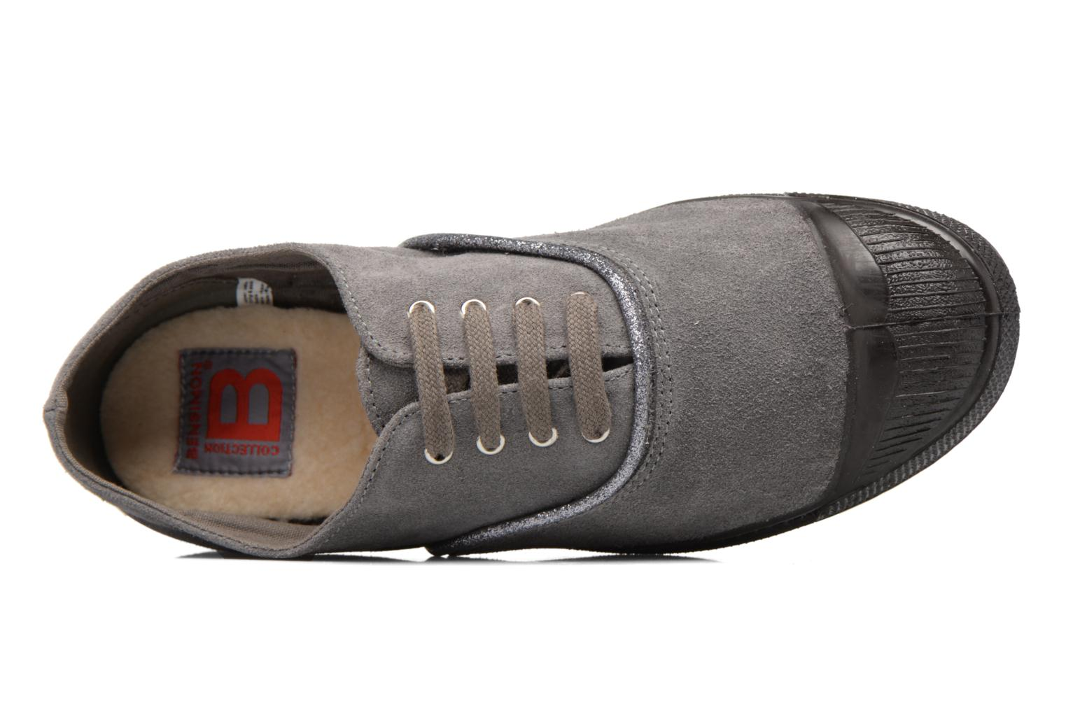 Trainers Bensimon Tennis Suedpiping F Grey view from the left