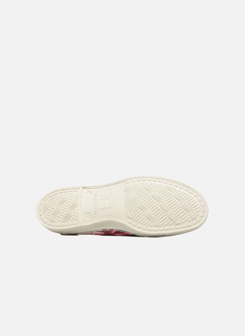 Baskets Bensimon Tennis Losanges Rose vue haut