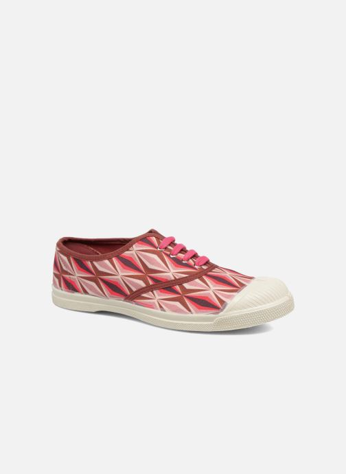 Baskets Bensimon Tennis Losanges Rose vue détail/paire
