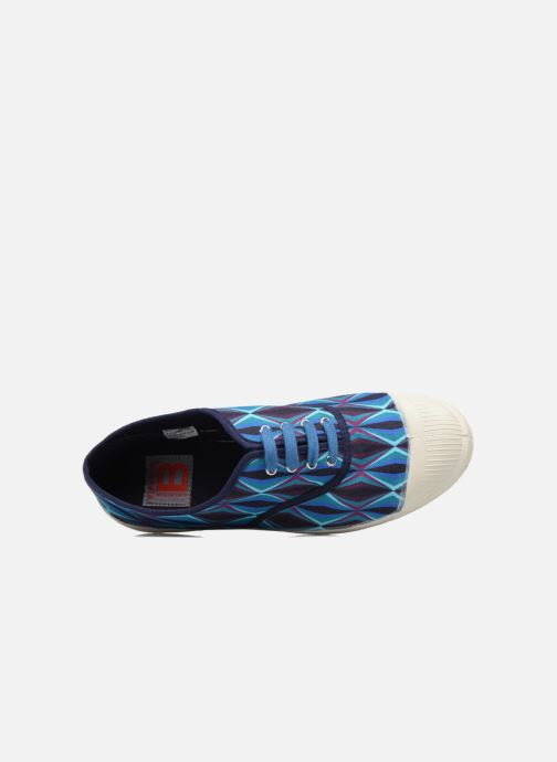 Trainers Bensimon Tennis Losanges Blue view from the left