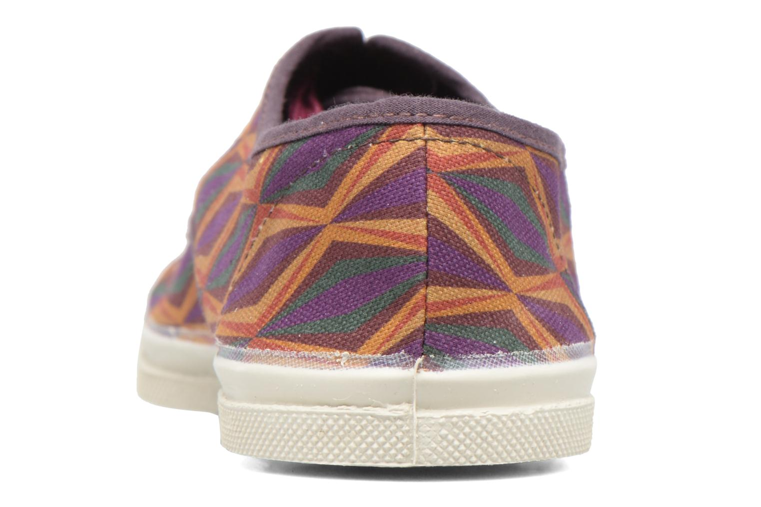 Trainers Bensimon Tennis Losanges Burgundy view from the right