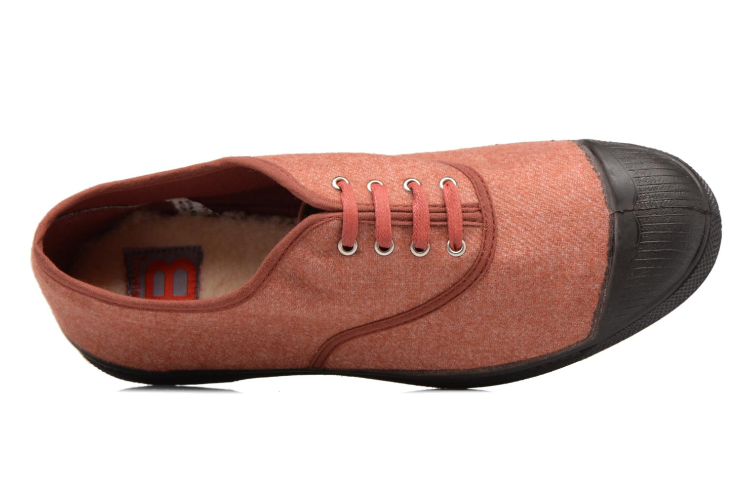 Trainers Bensimon Tennis Woolvintage Orange view from the left