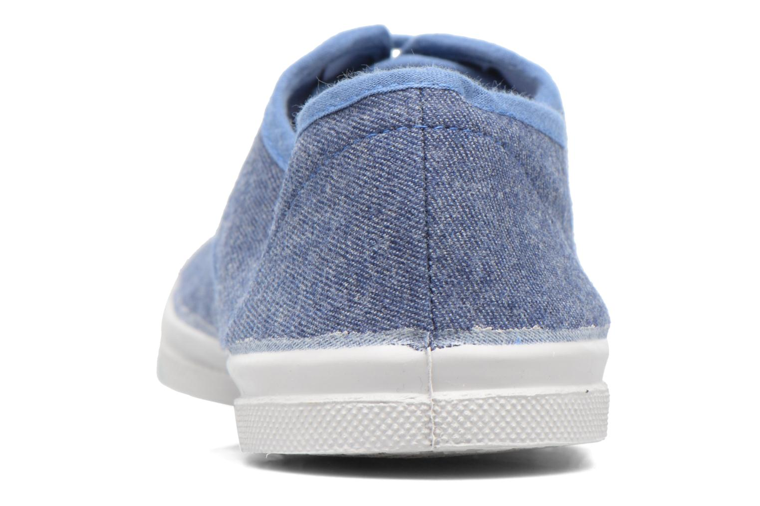 Trainers Bensimon Tennis Déperlantes Blue view from the right
