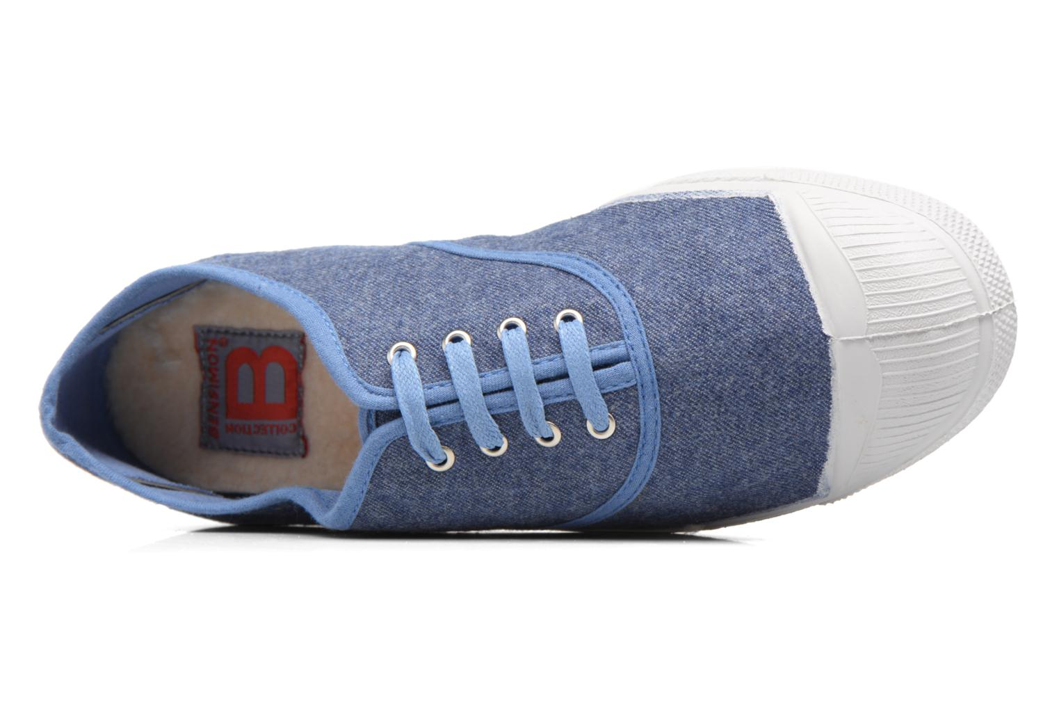 Trainers Bensimon Tennis Déperlantes Blue view from the left
