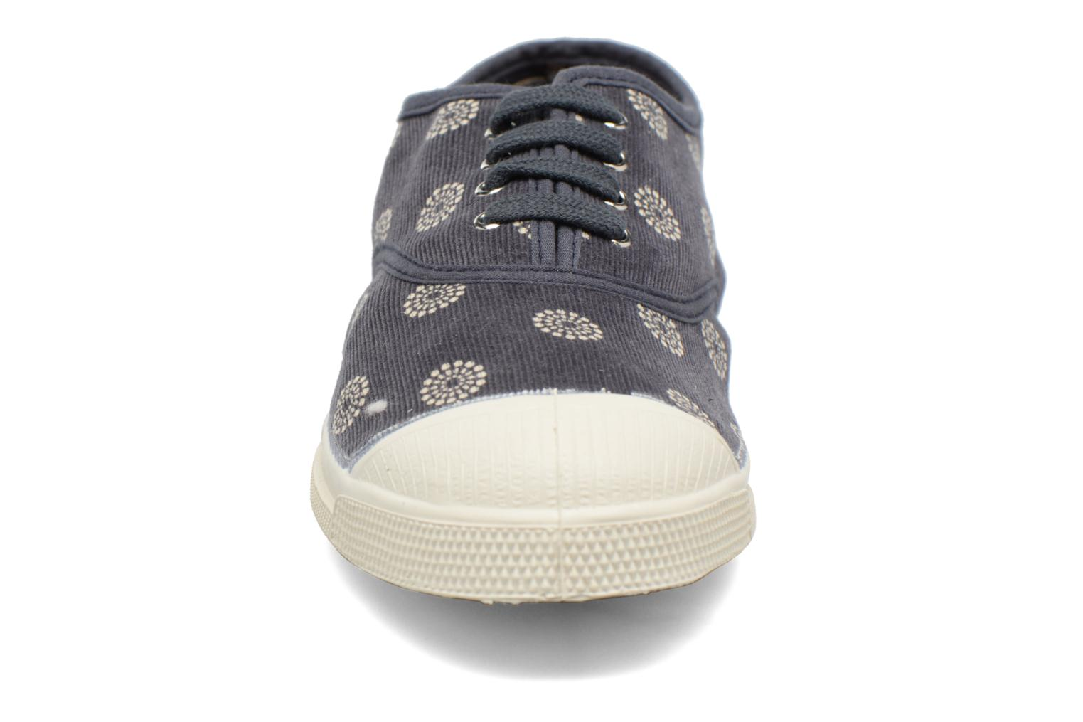 Trainers Bensimon Tennis Corduroy Grey model view