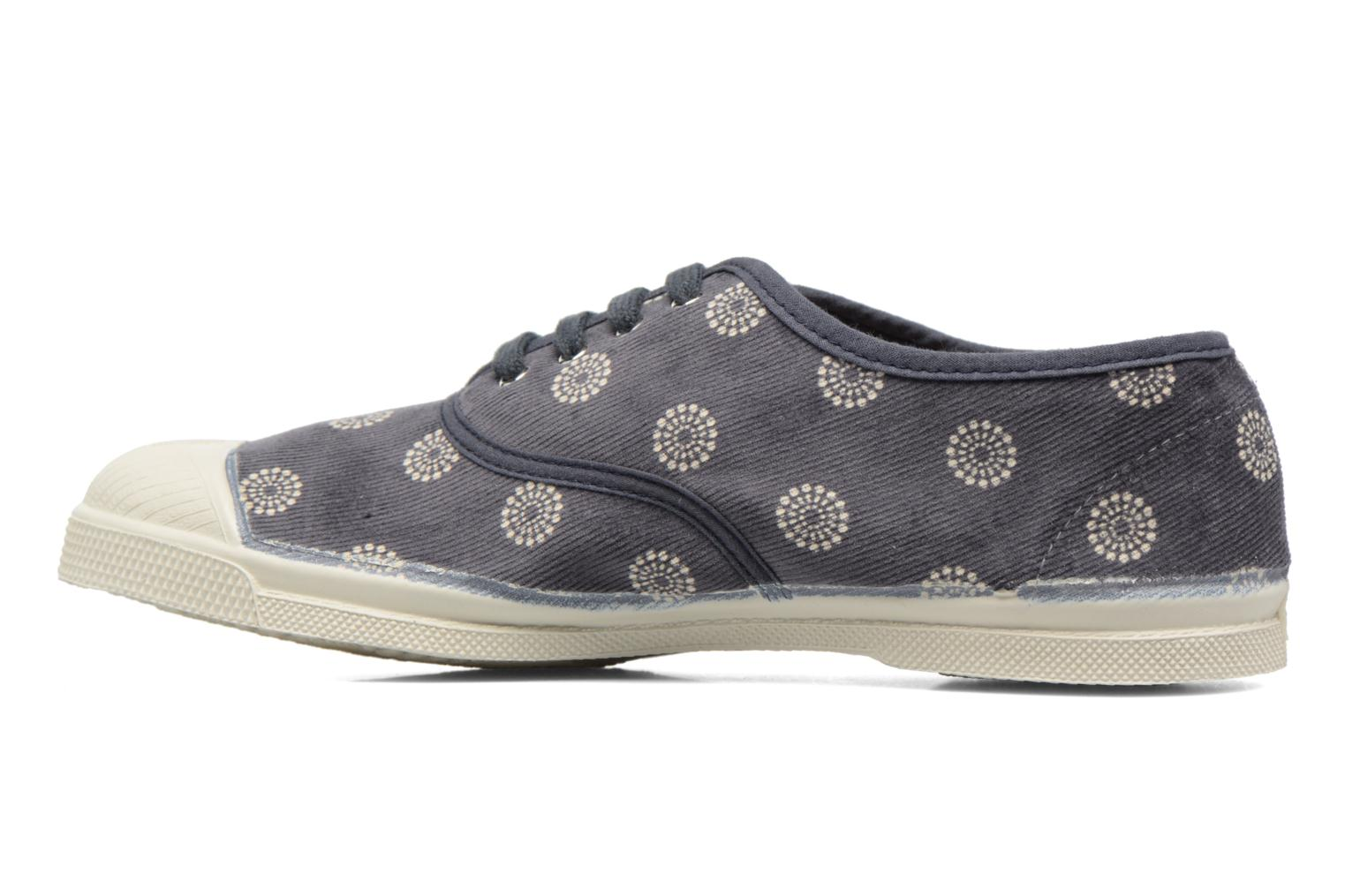 Trainers Bensimon Tennis Corduroy Grey front view