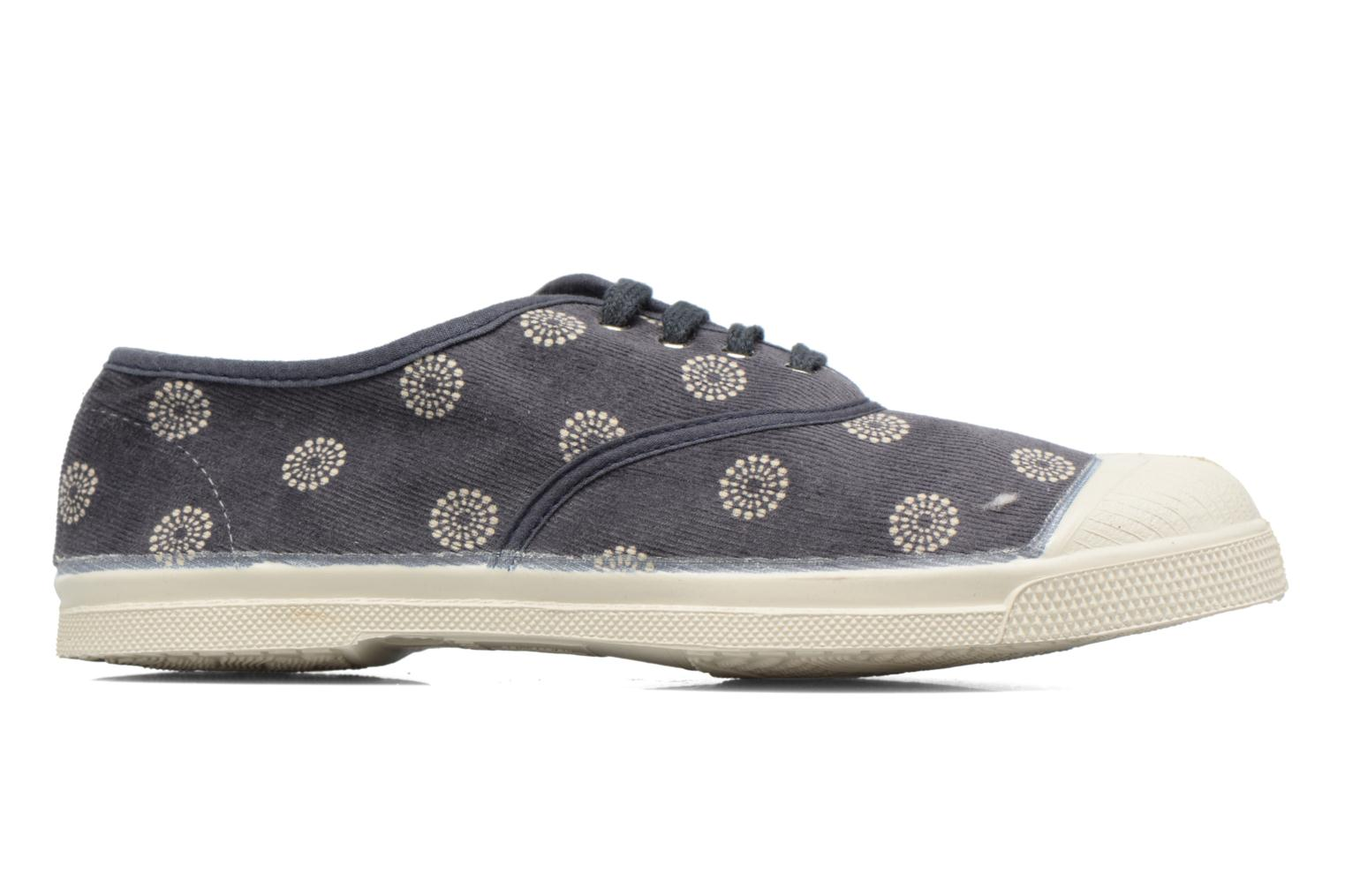 Trainers Bensimon Tennis Corduroy Grey back view