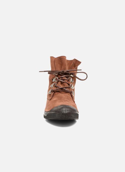Baskets Bensimon Montana Suedboots Marron vue portées chaussures