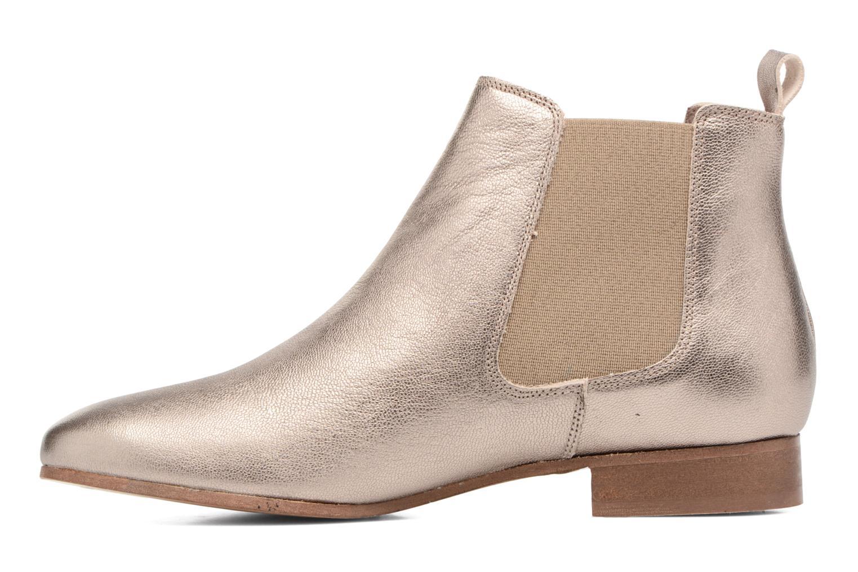 Boots en enkellaarsjes Bensimon Boots Chelsea Goud en brons voorkant