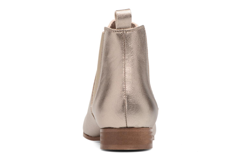 Boots en enkellaarsjes Bensimon Boots Chelsea Goud en brons rechts