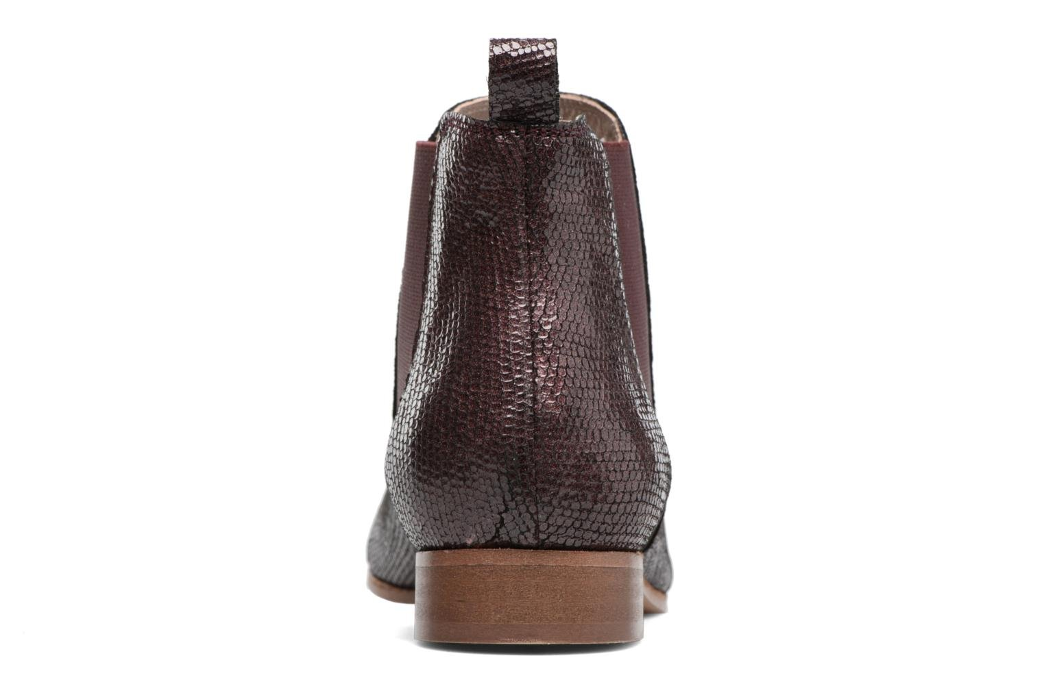 Ankle boots Bensimon Boots Chelsea Burgundy view from the right