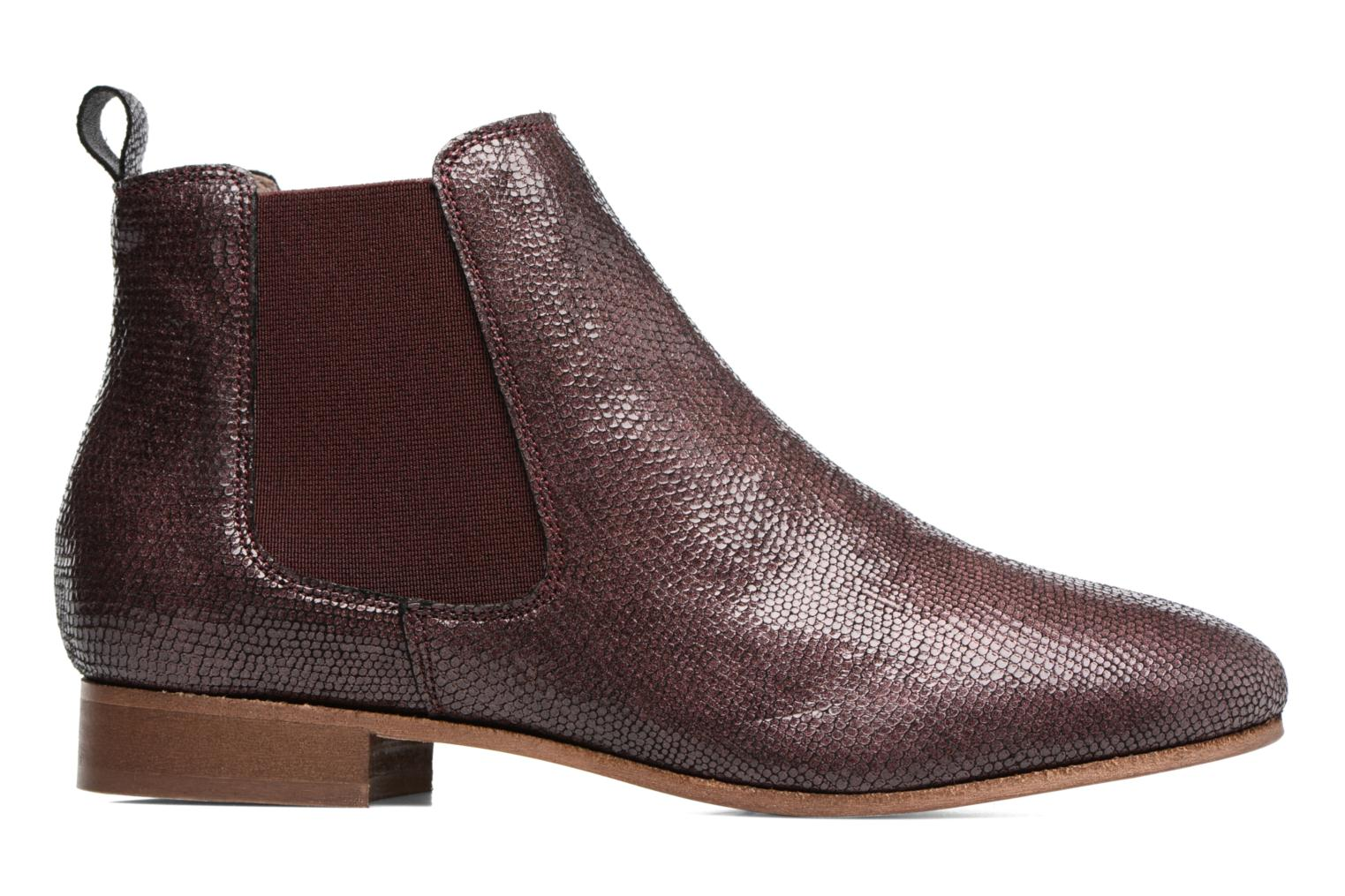 Ankle boots Bensimon Boots Chelsea Burgundy back view