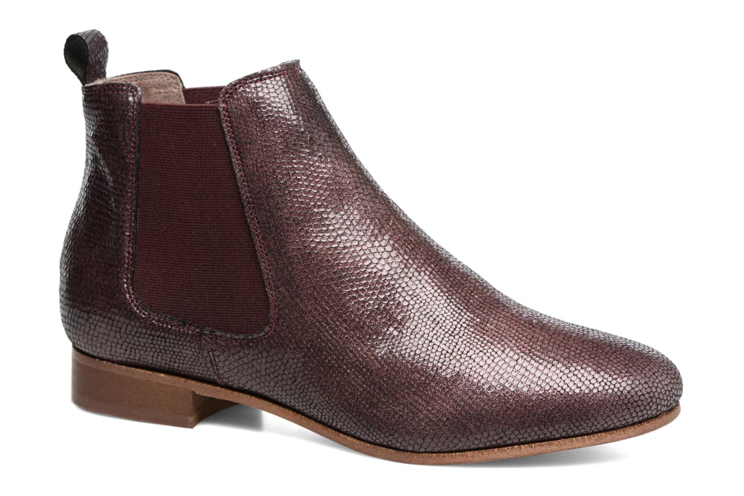 Ankle boots Bensimon Boots Chelsea Burgundy detailed view/ Pair view