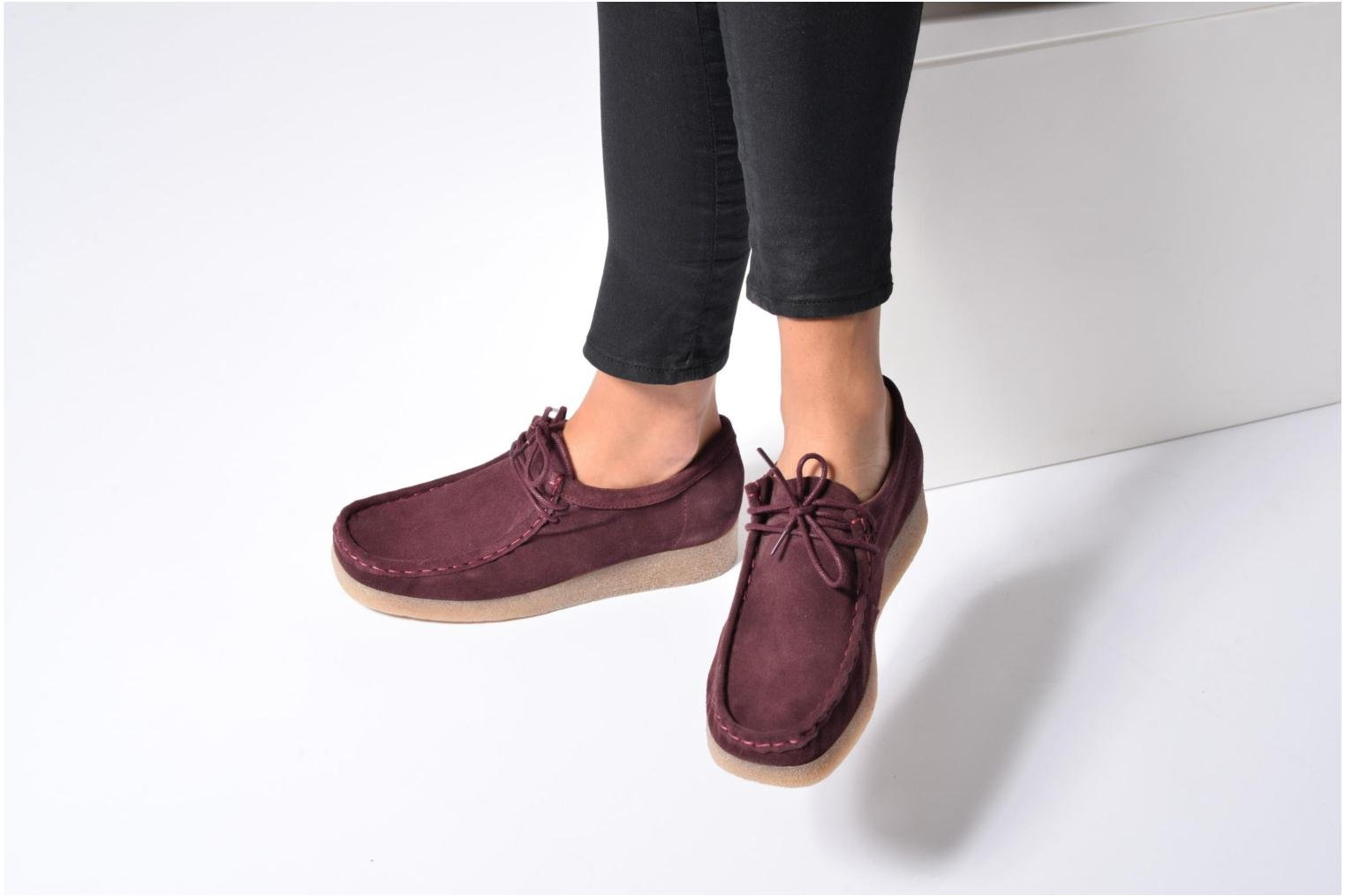 Lace-up shoes Bensimon Derbys Casual Black view from underneath / model view