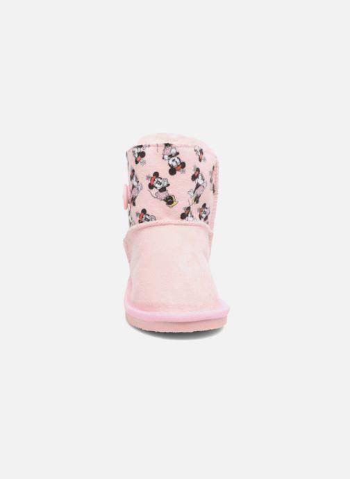 Bottes Canguro C57923 Rose vue portées chaussures