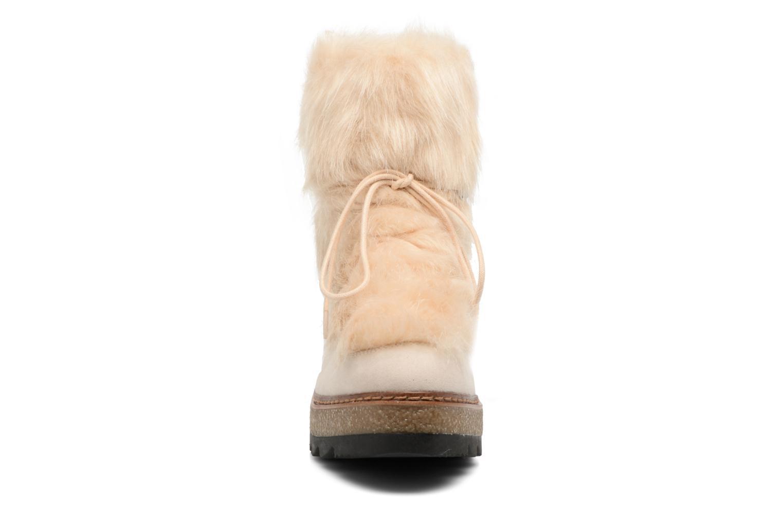 Bottes Tamaris Dunia Beige vue portées chaussures