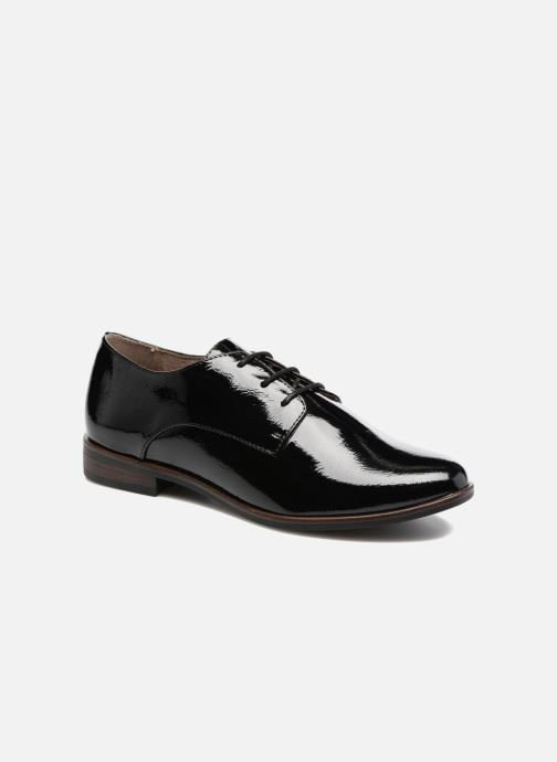 Lace-up shoes Tamaris Caraway Black detailed view/ Pair view