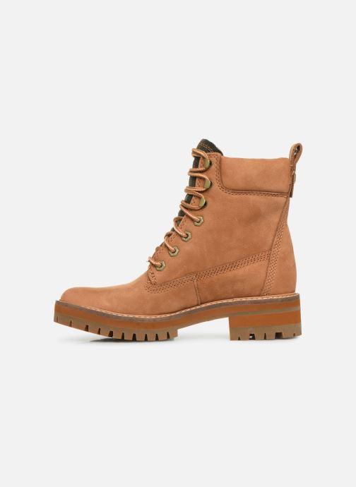 Boots en enkellaarsjes Timberland Courmayeur Valley Yellow Boot Bruin voorkant