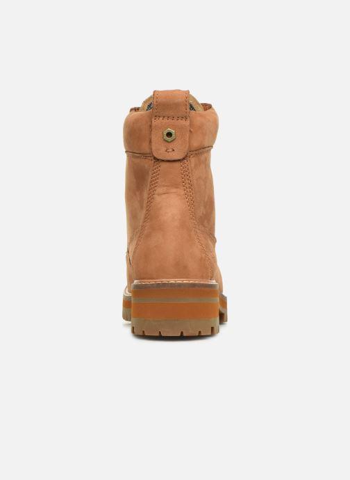 Boots en enkellaarsjes Timberland Courmayeur Valley Yellow Boot Bruin rechts