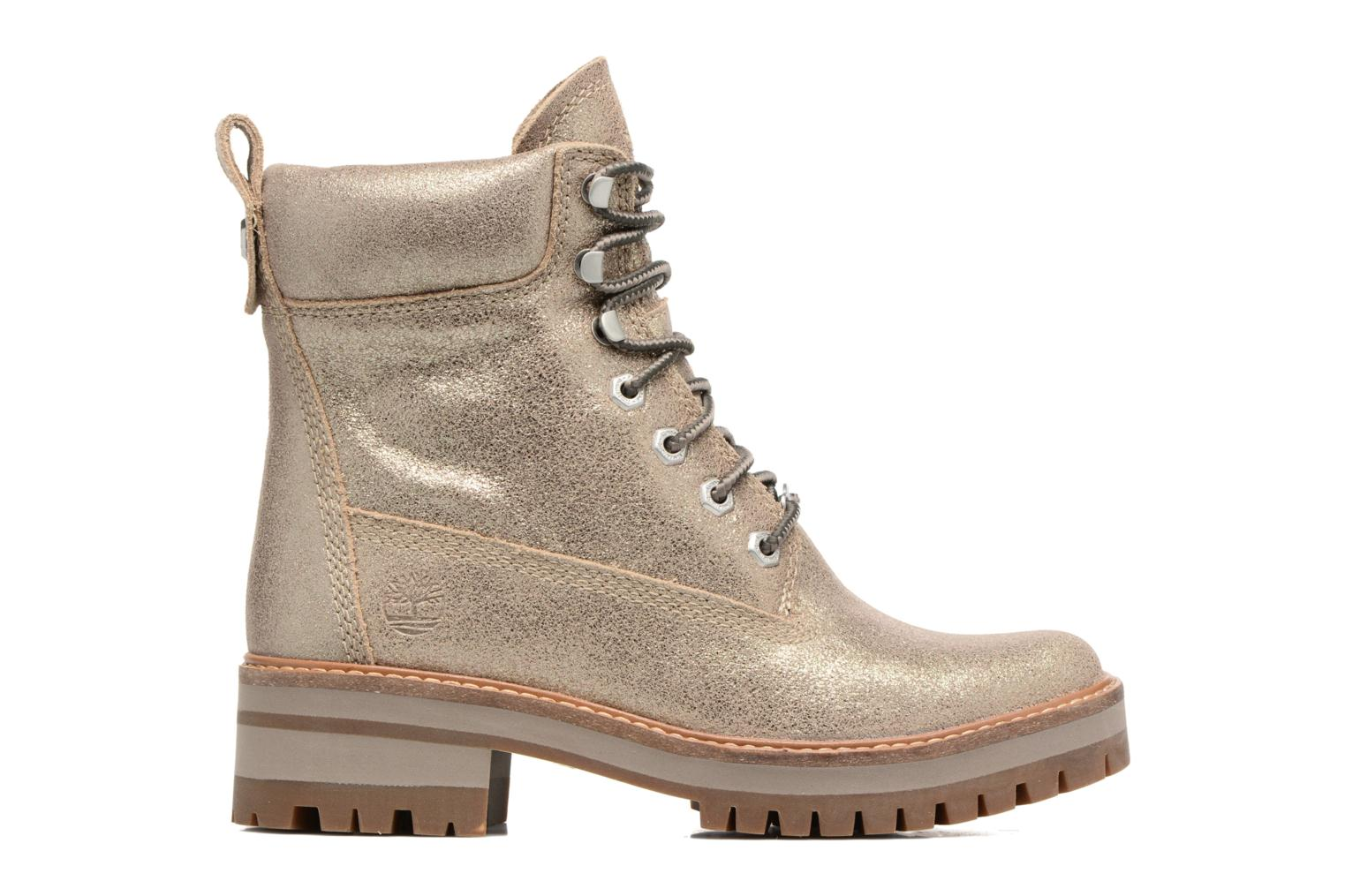 Botines  Timberland Courmayeur Valley Yellow Boot Oro y bronce vistra trasera