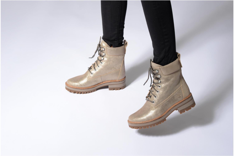 Stiefeletten & Boots Timberland Courmayeur Valley Yellow Boot silber ansicht von unten / tasche getragen
