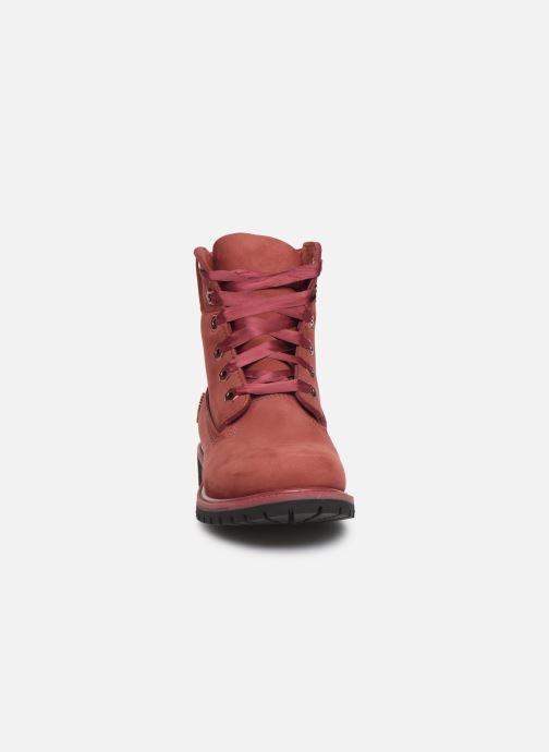 Bottines et boots Timberland 6in Premium WP Boot L/F- W Bordeaux vue portées chaussures
