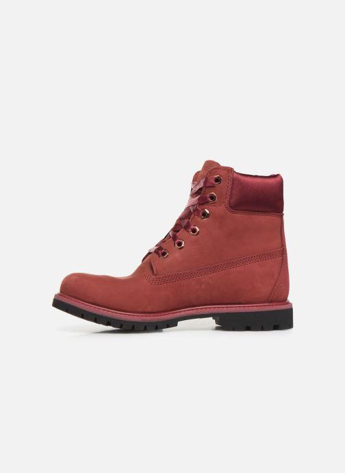 Boots en enkellaarsjes Timberland 6in Premium WP Boot LF- W Bordeaux voorkant