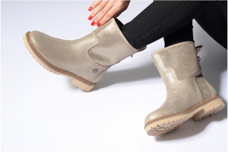 Stiefeletten & Boots Timberland Chamonix Valley Winter Boot gold/bronze ansicht von unten / tasche getragen