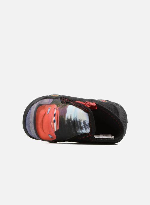 Pantuflas Cars Rubanier Negro vista lateral izquierda