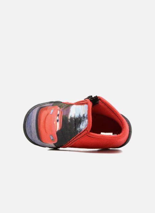 Pantuflas Cars Rubanier Rojo vista lateral izquierda