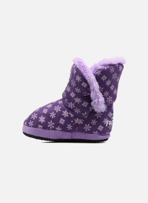 Pantuflas Frozen Stracie Violeta      vista de frente