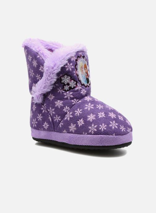 Pantuflas Frozen Stracie Violeta      vista de detalle / par