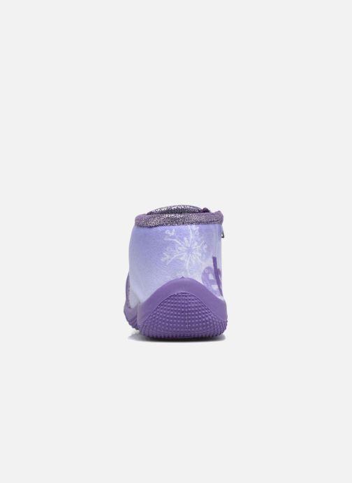 Pantuflas Frozen Scordia Violeta      vista lateral derecha