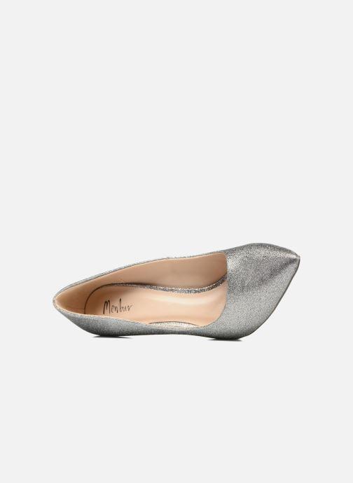 Zapatos de tacón Menbur Servier Plateado vista lateral izquierda
