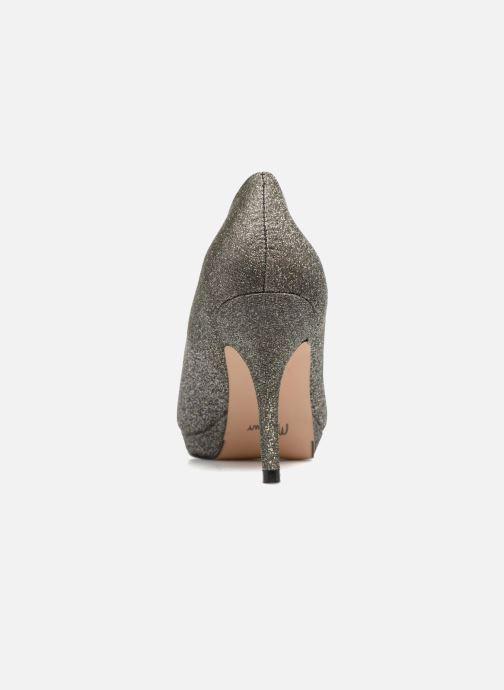 Zapatos de tacón Menbur Yedra Gris vista lateral derecha