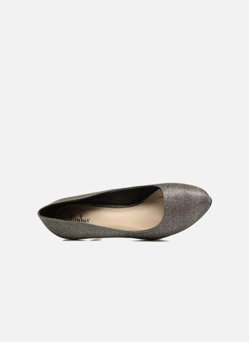 Zapatos de tacón Menbur Yedra Gris vista lateral izquierda
